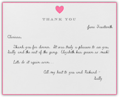 How to write thanks card